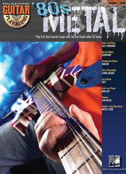 Hal Leonard 80s Metal3a Guitar Play-Along