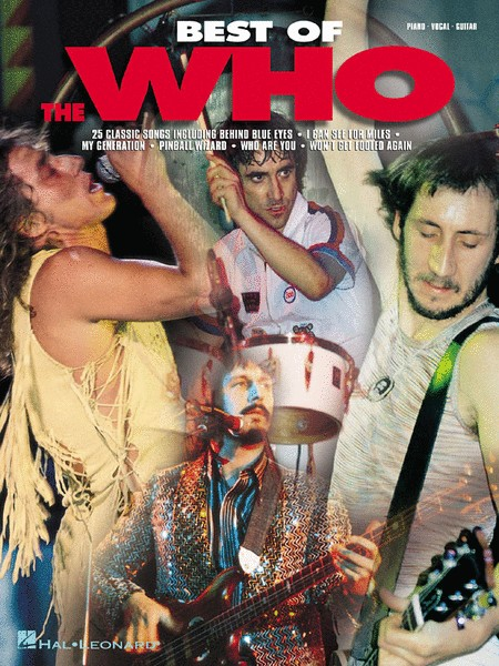Hal Leonard Best of the Who'3a Piano/Vocal/Guitar