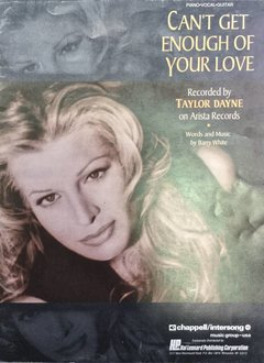 Hal Leonard Cant Get Enough of Your Love: Taylor Dayne, Piano/Vocal/Guitar