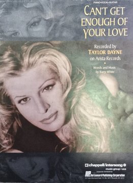Hal Leonard Cant Get Enough of Your Love - Taylor Dayne, Piano/Vocal/Guitar