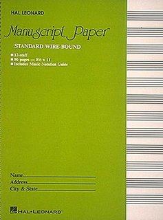 Hal Leonard Standard Wirebound Manuscript Paper (Green Cover)