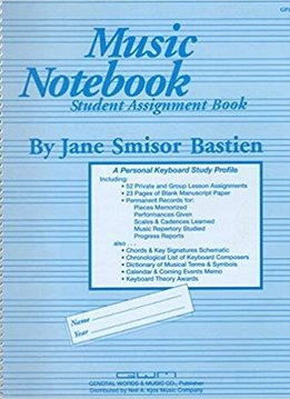 Hal Leonard Music Notebook Student Assignment Book