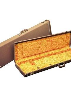 Fender Fender Deluxe Strat®/Tele® Case, Brown with Gold Plush Interior