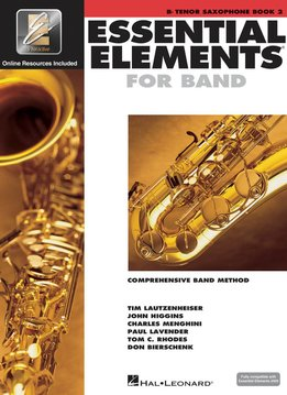 Hal Leonard Essential Elements B-Flat Ten. Sax Book 2