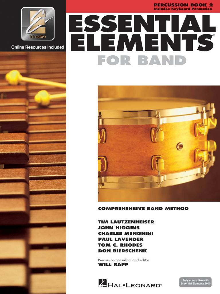 Hal Leonard Essential Elements Percussion Book 2
