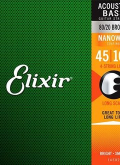 Elixir Elixir Acoustic Bass 80/20 Bronze with Nanoweb Coating