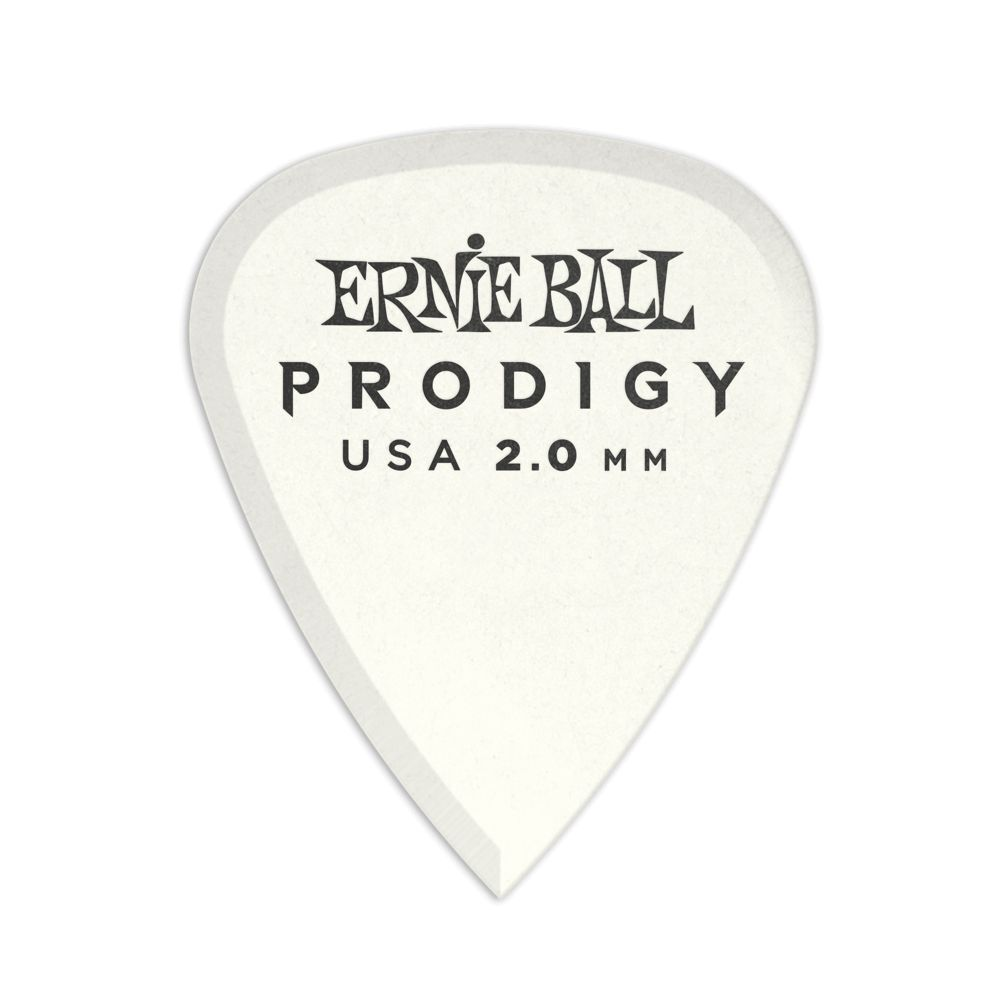 Ernie Ball Ernie Ball 2.0mm White Standard Prodigy Picks 6-Pack