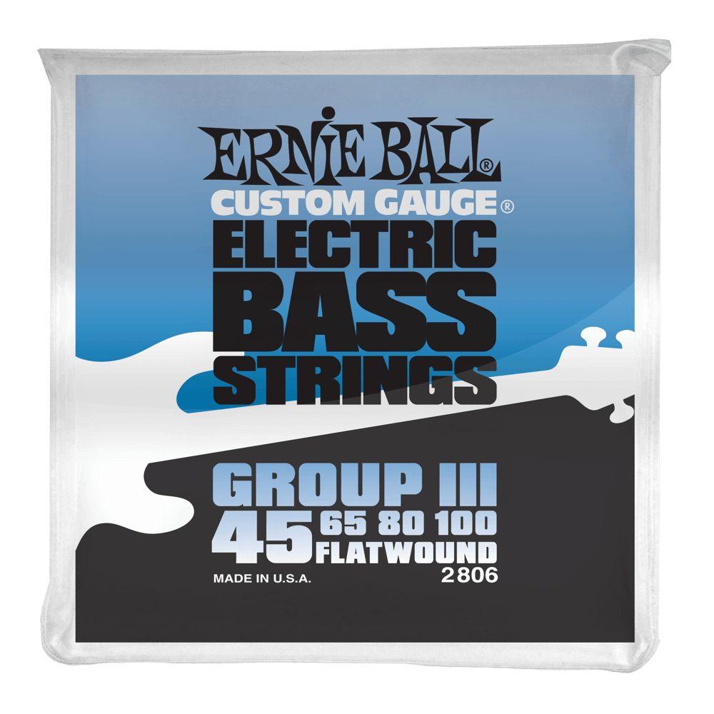Ernie Ball Ernie Ball Flatwound Group III Electric Bass Strings - 45-100 Gauge