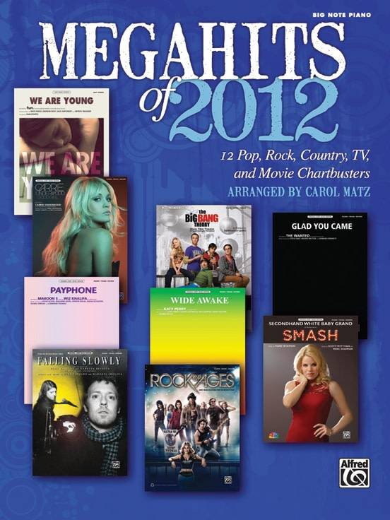 Megahits of 2012 Piano Songbook
