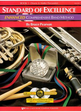 Kjos Standard of Excellence Percussion Book 1 Enhanced