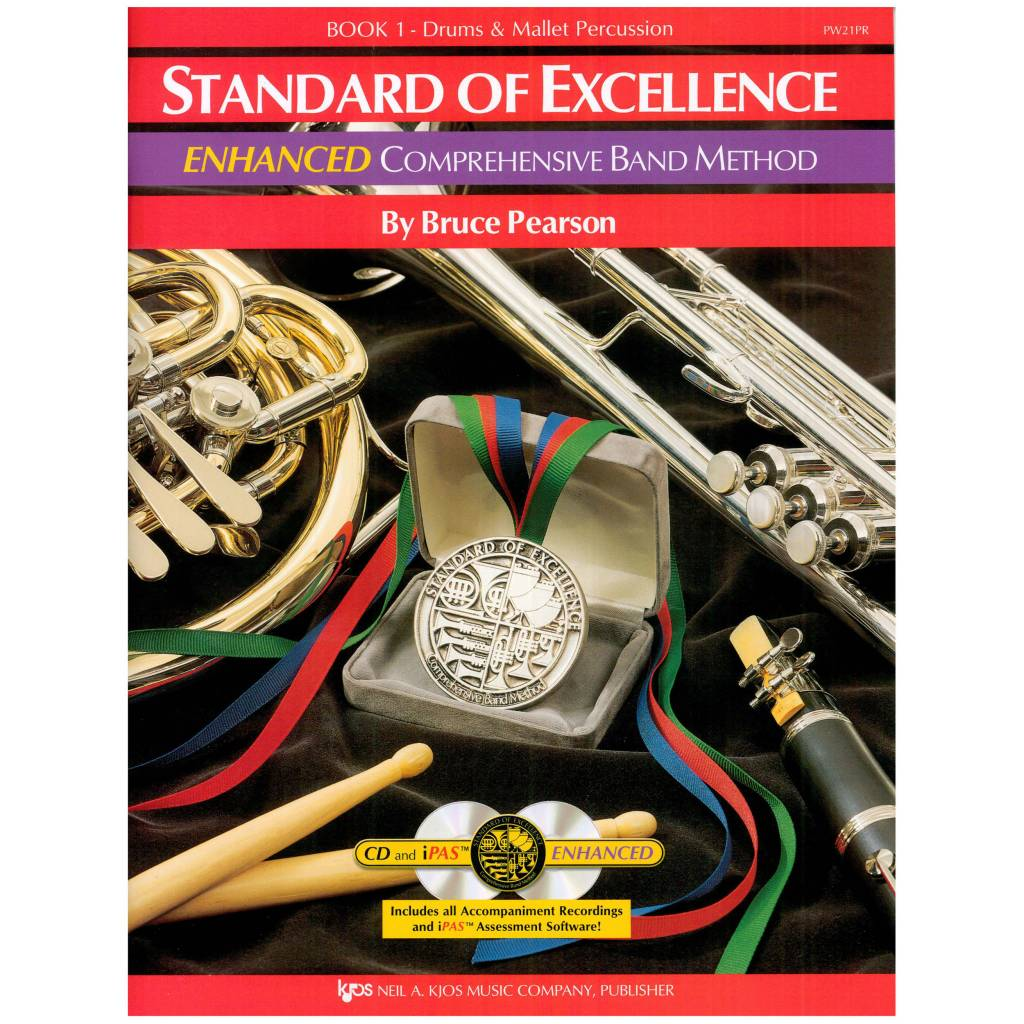 Kjos Standard of Excellence Enhanced Percussion Book 1