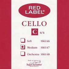 Super-Sensitive Red Label Single 4/4 C Cello String
