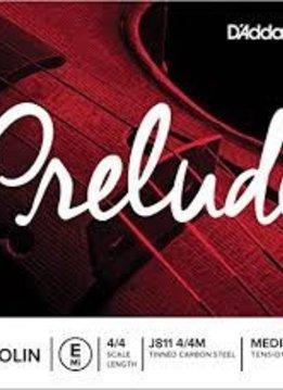 """D'Addario Prelude Violin Single E String, 4"""" /4 Scale, Medium Tension"""