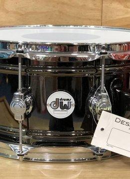 """DW DW 6.5"""" x 14"""" Design Series Black Nickel over Brass Snare Drum"""