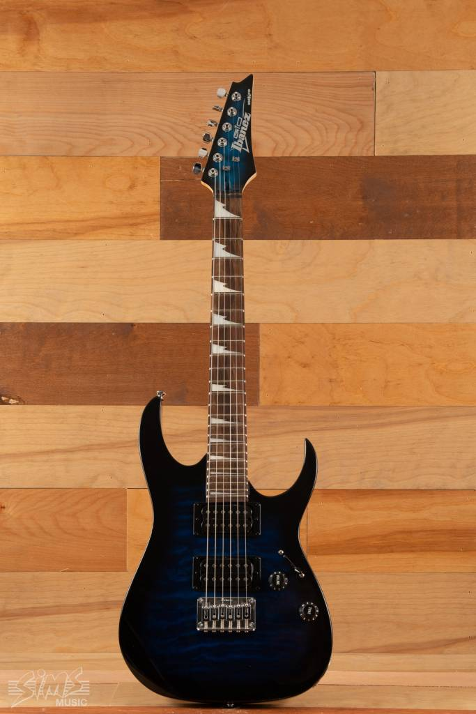 Ibanez Ibanez GRGM22QA Mikro Guitar Transparent Marine Sunburst