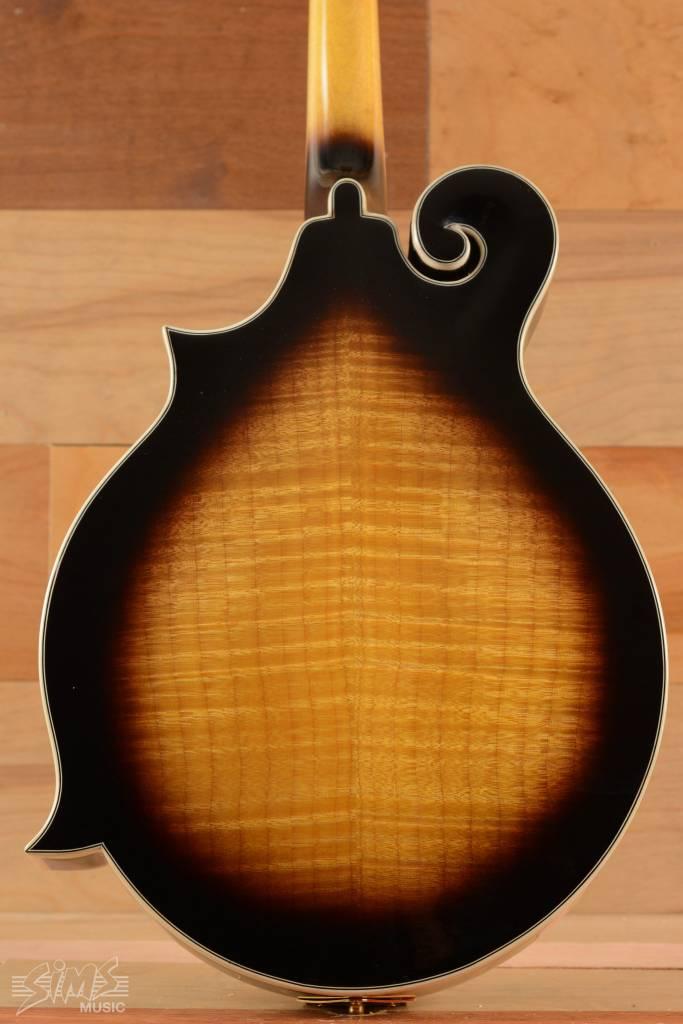 "Fender Fender FM-63S Mandolin, Sunburst, ""F"" Style, Carved Solid Spruce Top, Mother of Pearl Inlays"