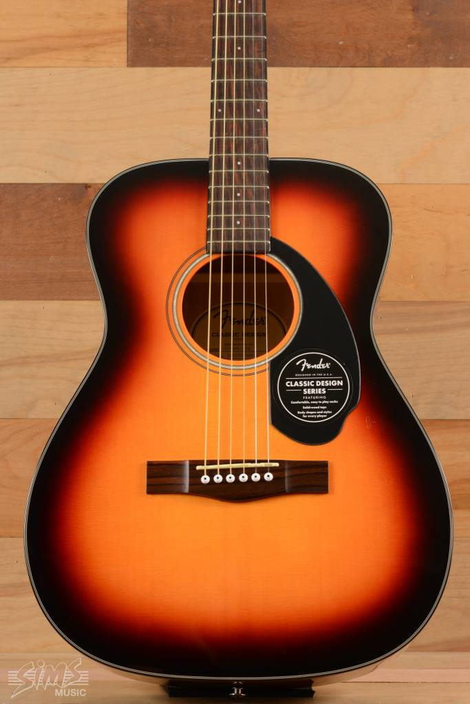 Fender Fender CC-60S Acoustic Guitar, 3-Color Sunburst