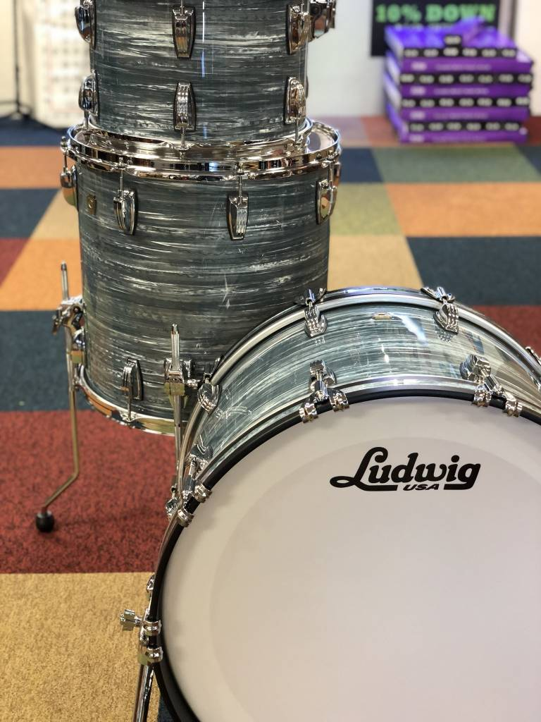 "Ludwig Ludwig Classic Maple 3 Piece 22"" Shell Pack, Vintage Blue Oyster"