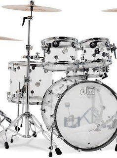"""DW DW Design Series 5pc Shell Pack, 22"""" Kick - Clear Acrylic"""