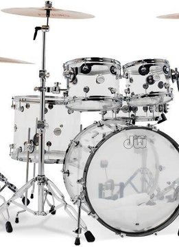 "DW DW Design Series 5pc Shell Pack, 22"" Kick - Clear Acrylic"