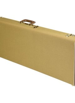 Fender Fender G&G Deluxe Strat®/Tele® Hardshell Case, Tweed with Red Poodle Plush Interior