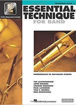 Hal Leonard Essential Technique Trombone Book 3