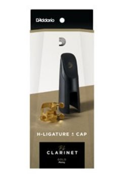D'Addario D'Addario H-Ligature & Cap, Bb Clarinet, Gold-plated
