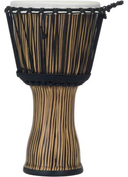 "Pearl Pearl 10"" Rope Tuned Djembe, Zebra Grass"