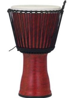 """Pearl Pearl 7"""" Rope Tuned Djembe, Molten Scarlet"""