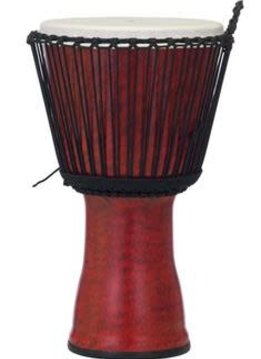"Pearl Pearl 7"" Rope Tuned Djembe, Molten Scarlet"