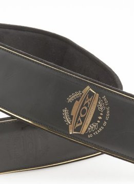 VOX 60th Anniversary Strap with Black Leather with Gold Engraved Logo &  Trim