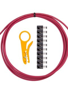 Lava DC Plug Solder-Free Kit, 10' Red Cable, 10 Plugs, Stripper