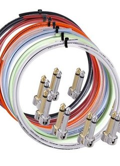 Lava 10' Cable, 10 Straight Nickel Solderable Plugs   stripper, BLACK Cable