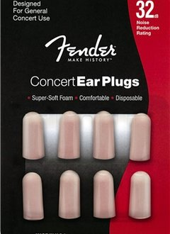 Fender Fender Concert Series Foam Ear Plugs, 4 Sets