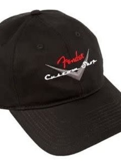 Fender Fender® Custom Shop Baseball Hat, Black, One Size Fits Most