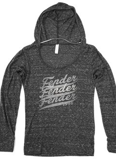 Fender Fender® Women's Popover 1946  Long-Sleeve Hoodie, Gray, Small
