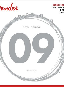Fender Fender Original 150 Guitar Strings, Pure Nickel Wound, Ball End, 150L .009-.042 Gauges