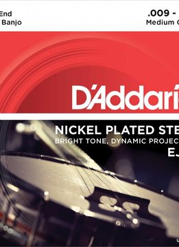 D'Addario D'Addario Set Nickel 4-String Tenor Banjo 9-23