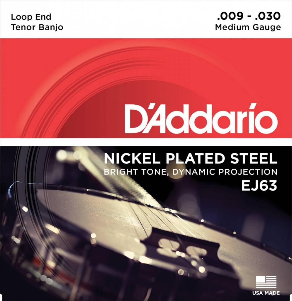 D'Addario D'Addario Set Nickel 4-String Tenor Banjo 9-23