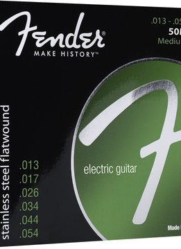 Fender Fender Stainless Flatwounds, (50 L) Stainless Steel Flatwound Ball End Set