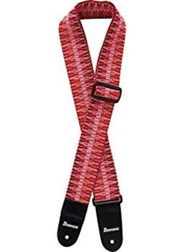 "Ibanez Ibanez 2"" Braided Strap, Pink/Red"