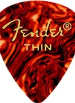 Fender Fender Classic Shell Thin Picks, 12-pack