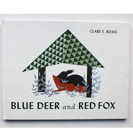 Blue Deer and Red Fox by Clare E. Rojas