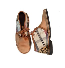 Brother Vellies Plaid Shoe by Mickalene Thomas x Brother Vellies