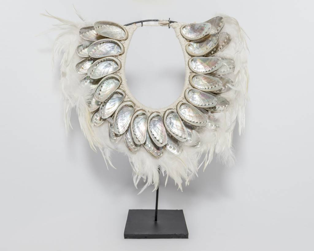 Feather and Shell Necklace, Light