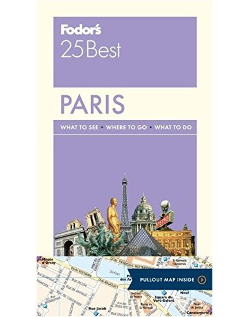 FODOR Fodor's Paris 25 Best (Full-color Travel Guide) 13TH Edition