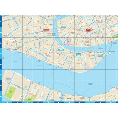 Lonely Planet Venice City Map