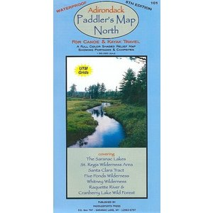 North Country Books, Inc. Adirondack Paddler's Map North