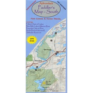 North Country Books, Inc. Adirondack Paddler's Map South
