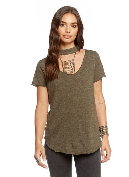 Chaser Front Neck Vent Tee